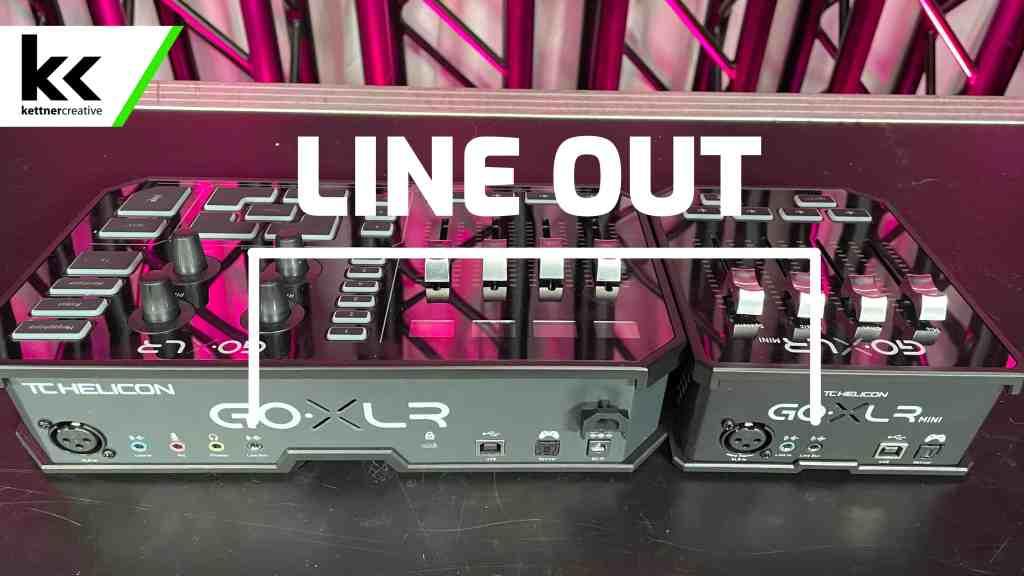 GoXLR vs GoXLR Mini Line Output