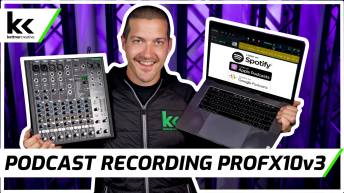 Record a Podcast Mackie Profx