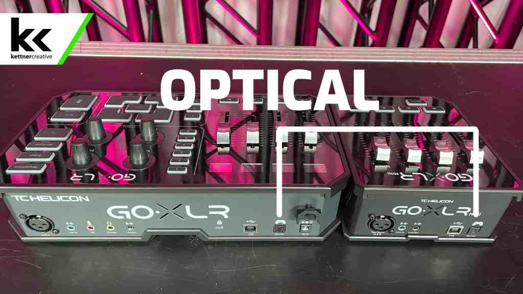 GoXLR vs GoXLR Mini Optical Input