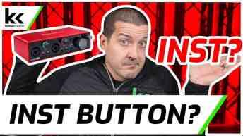 Scarlett 2i2 INST Button
