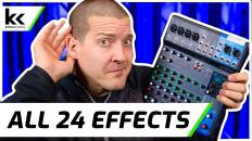 Yamaha MG10XU Audio Effects Demo – All 24 Effects