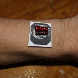 Real size paper model on wrist