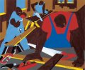 Carpenters, by Jacob Lawrence, 1977