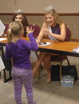 Hannah with little girl