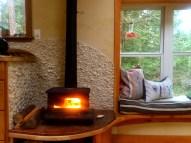Little cod wood stove - toasty warm!