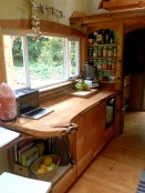 Work space and cooking space.