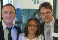 Kevin with Annys Darkwa, director of Vision Housing and Mark Clarke, director of Inside 'n' Out Magazine at the Interserve Transforming Justice conference in London.