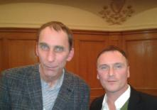 """Kevin with author Will Self who presented the Lord Longford lecture on 'Drugs in British Prisons' at Westminster. """"He is great writer, great guy and extremely humble."""""""
