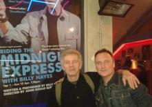 With Billy Hayes, whose life story became the movie 'Midnight Express'.