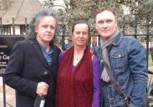 With Donovan, the singer songwriter, and his lovely long time wife, Linda