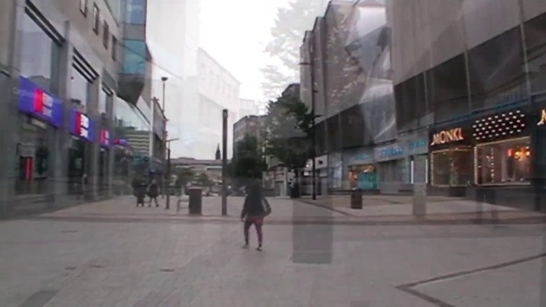 Birmingham City Centre during the Coronavirus Lock-down