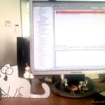 Macska az asztalomon