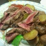 Marha steak véresen