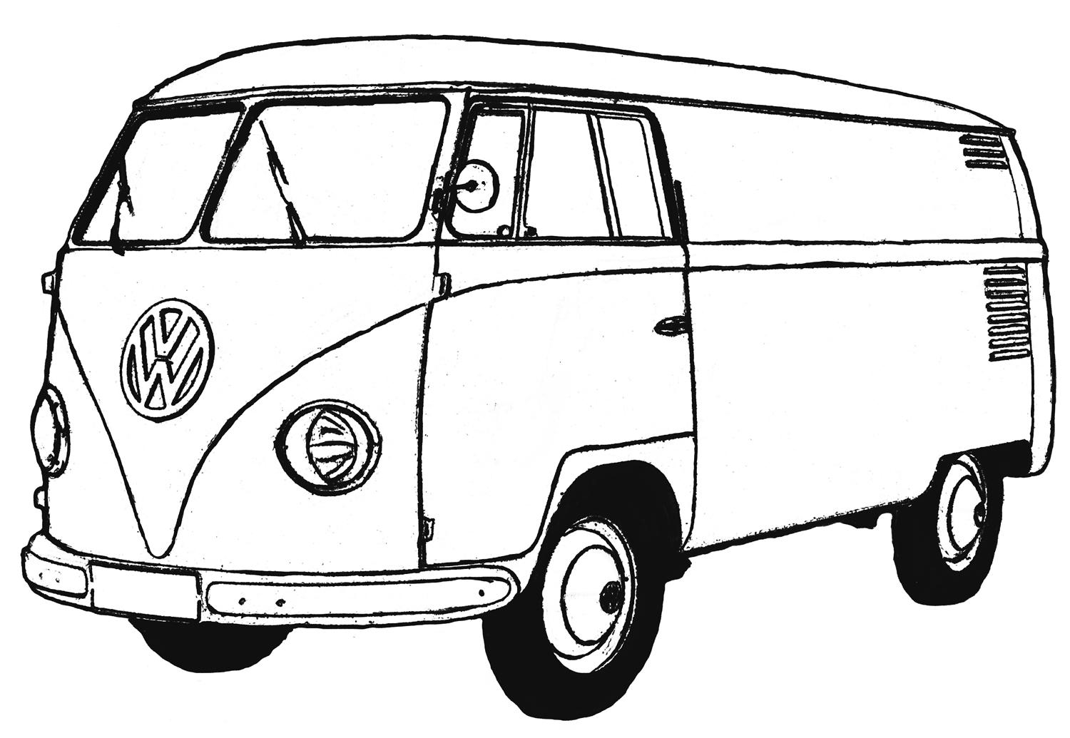 combi volkswagen colouring pages