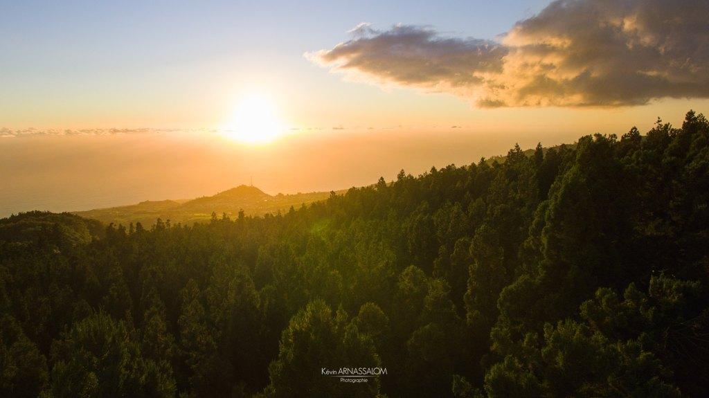 Photos de drone à la Réunion - Plan du site - Coucher de soleil