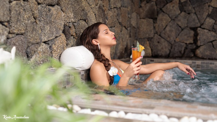 Photo relaxante dans le jacuzzi de l'Hôtel & SPA Villa Delisle ****