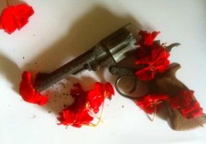 flowered gun