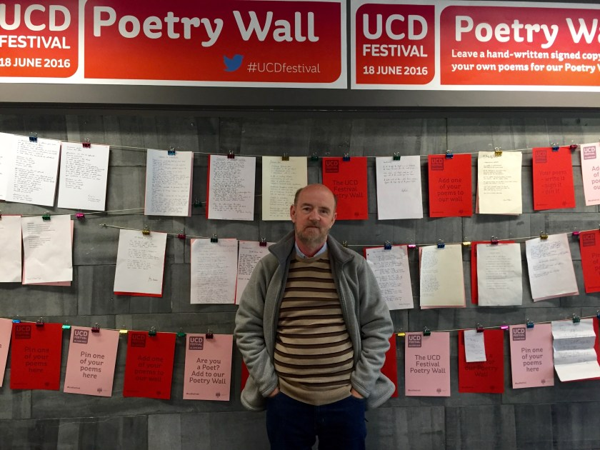 kevin at poetry wall