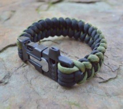 a survival bracelet for hiking