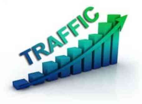 picture stating the word traffic and a graph