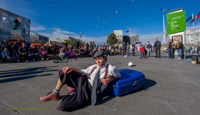 Justin - One of the regular Entertainers at Federation Square
