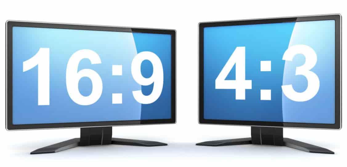 16:9 или 4: 3разрешения экрана телевизора