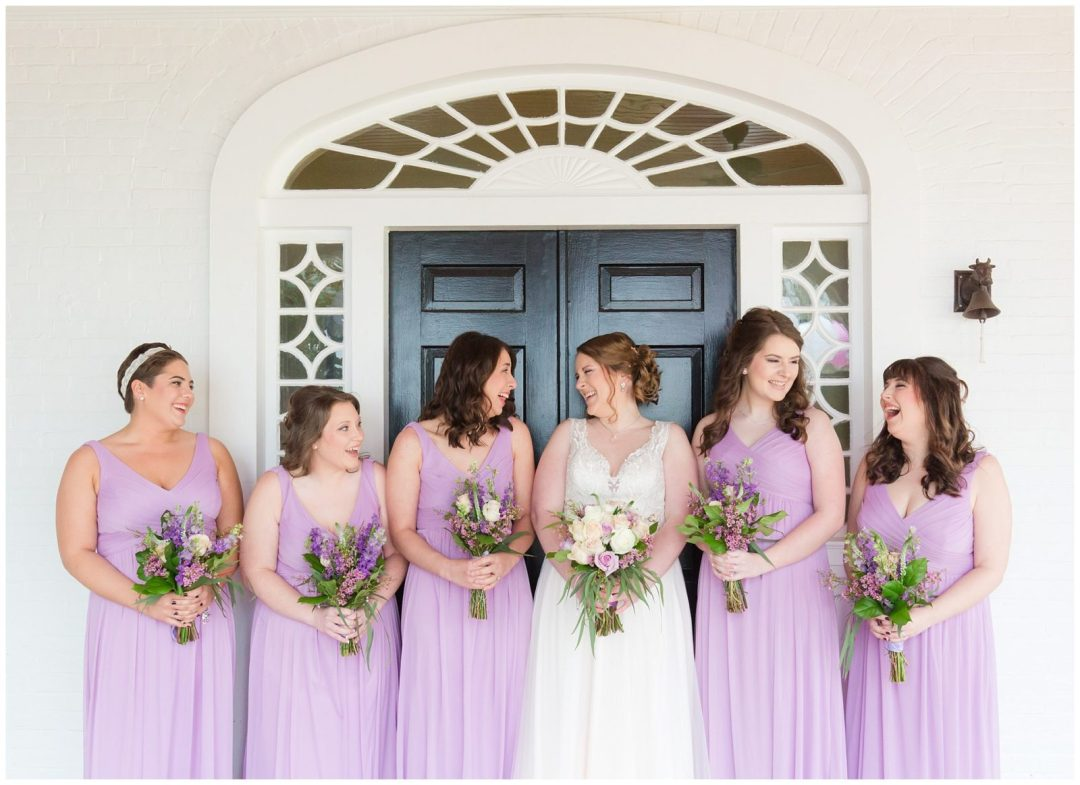 Bridesmaids Wedding Photos at Ashford Acres Inn in Cynthiana, Kentucky.