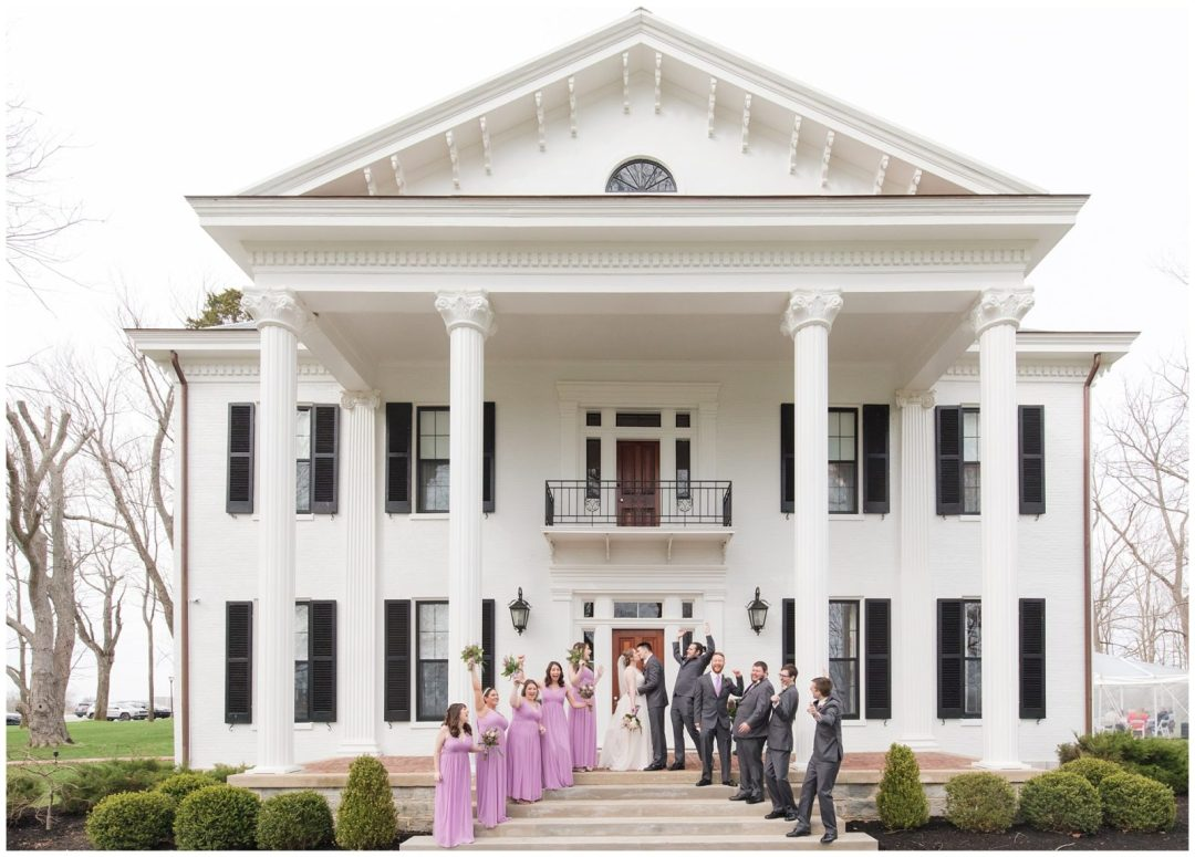 Bridal Party Wedding Photos at Ashford Acres Inn in Cynthiana, Kentucky.