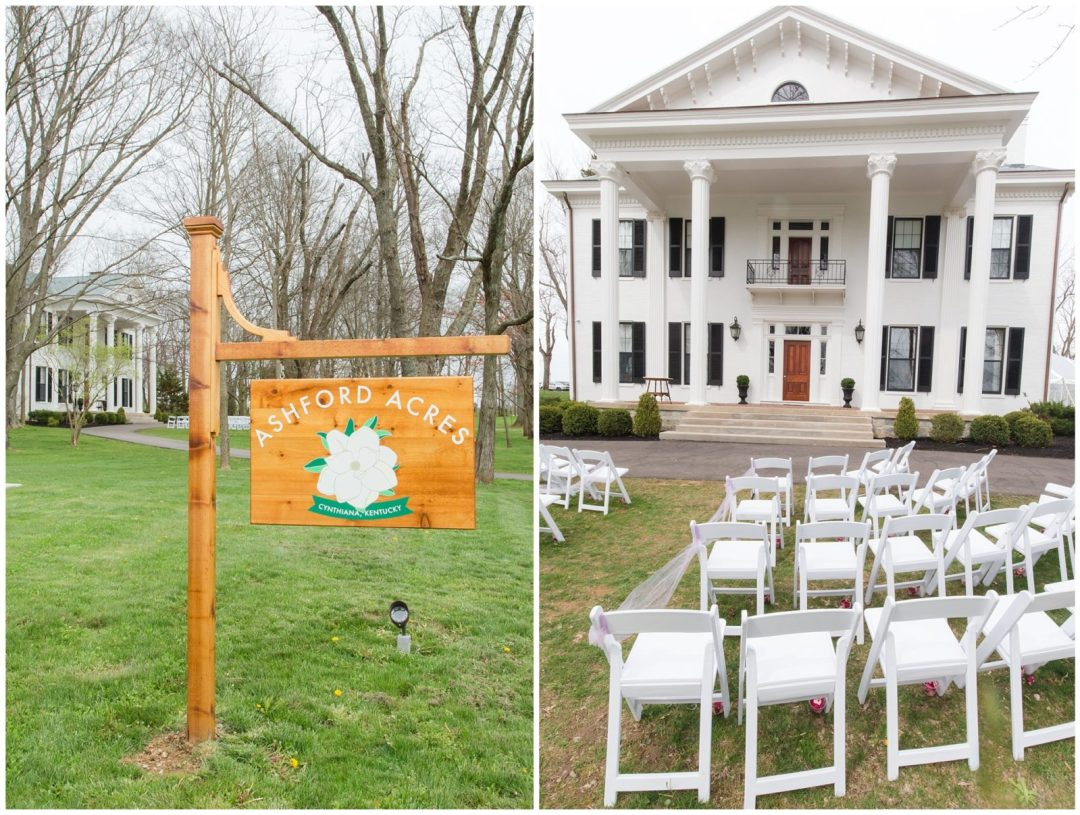 Wedding Ceremony Photos at Ashford Acres Inn in Cynthiana, Kentucky.