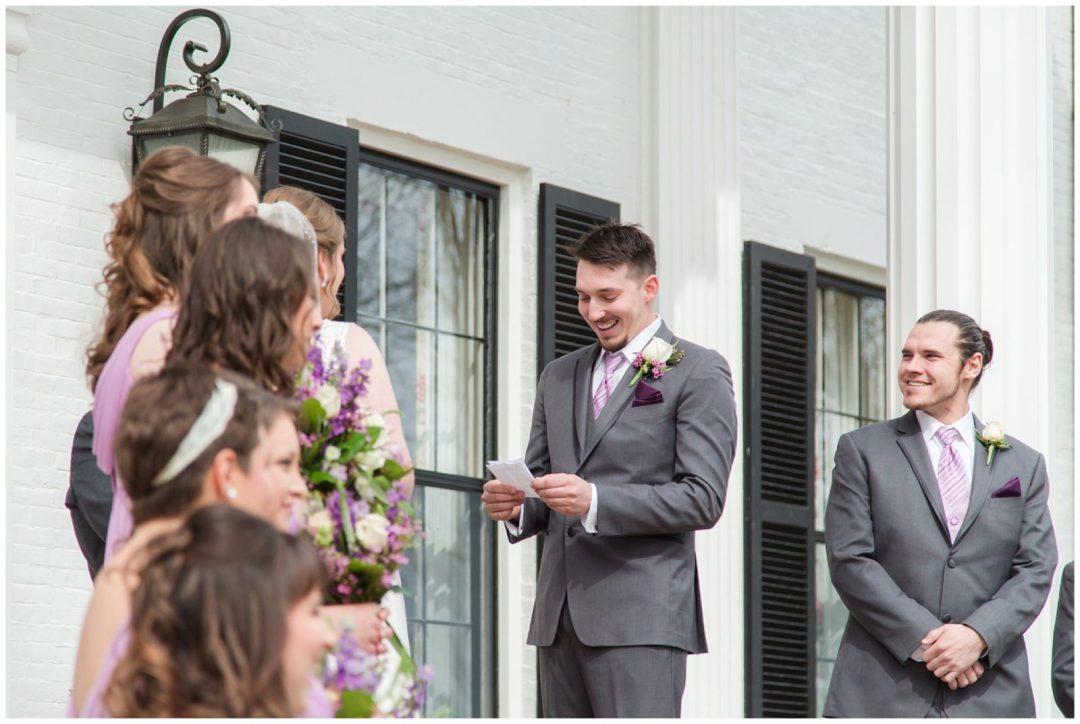 Wedding Ceremony Photos at Ashford Acres Inn in Cynthiana, Kentucky.