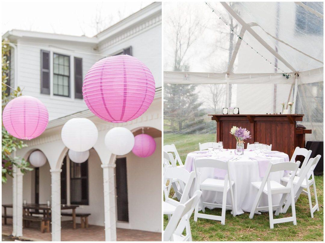 Wedding Reception Detail Photos at Ashford Acres Inn in Cynthiana, Kentucky.