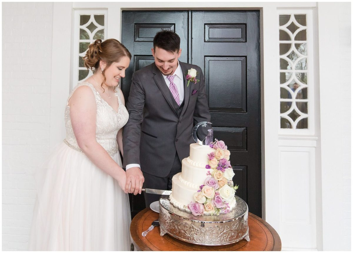 Wedding Reception Cake Photos at Ashford Acres Inn in Cynthiana, Kentucky.