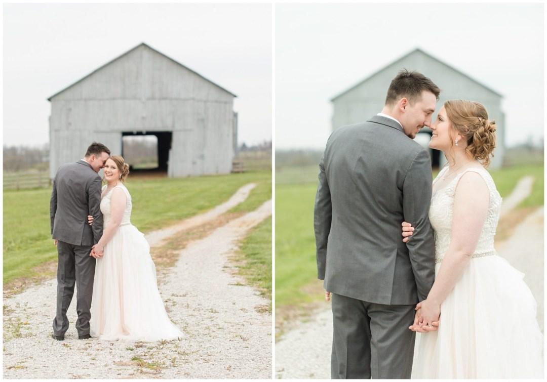 Bride and Groom Photos with at Barn at Ashford Acres Inn in Cynthiana, Kentucky.