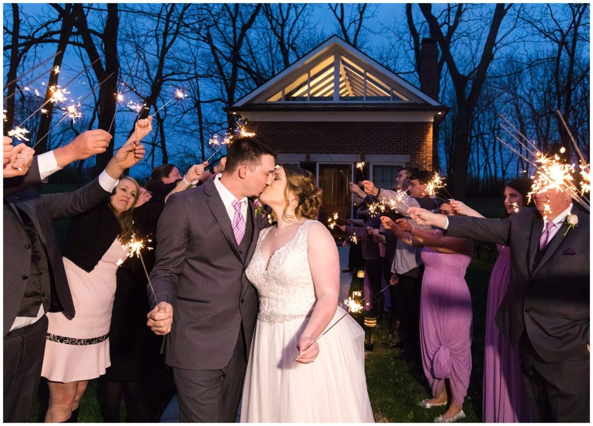Bride and Groom Sparkler Exit at Ashford Acres Inn in Cynthiana, Kentucky.