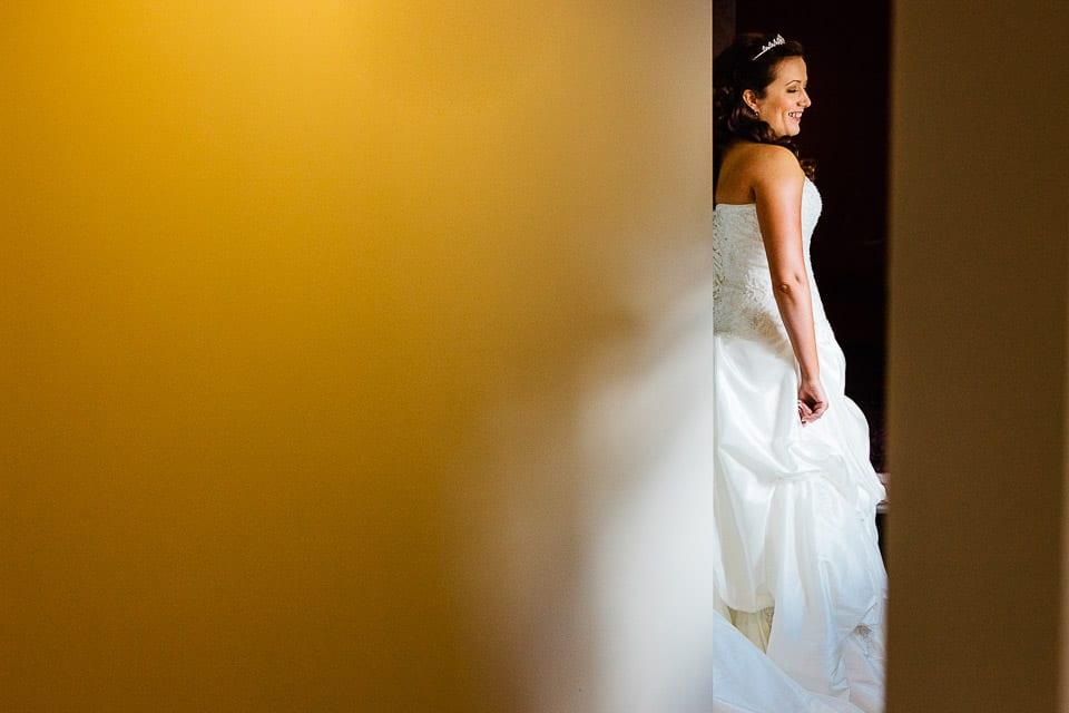 Bowood wedding bride in doorway