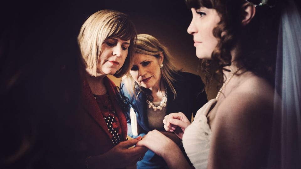 Guests inspect the Bride's ring at Grittleton House