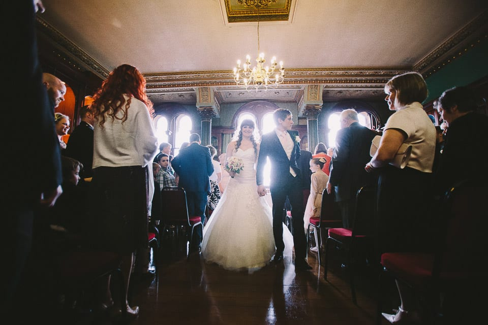 Wedding ceremony at Grittleton House