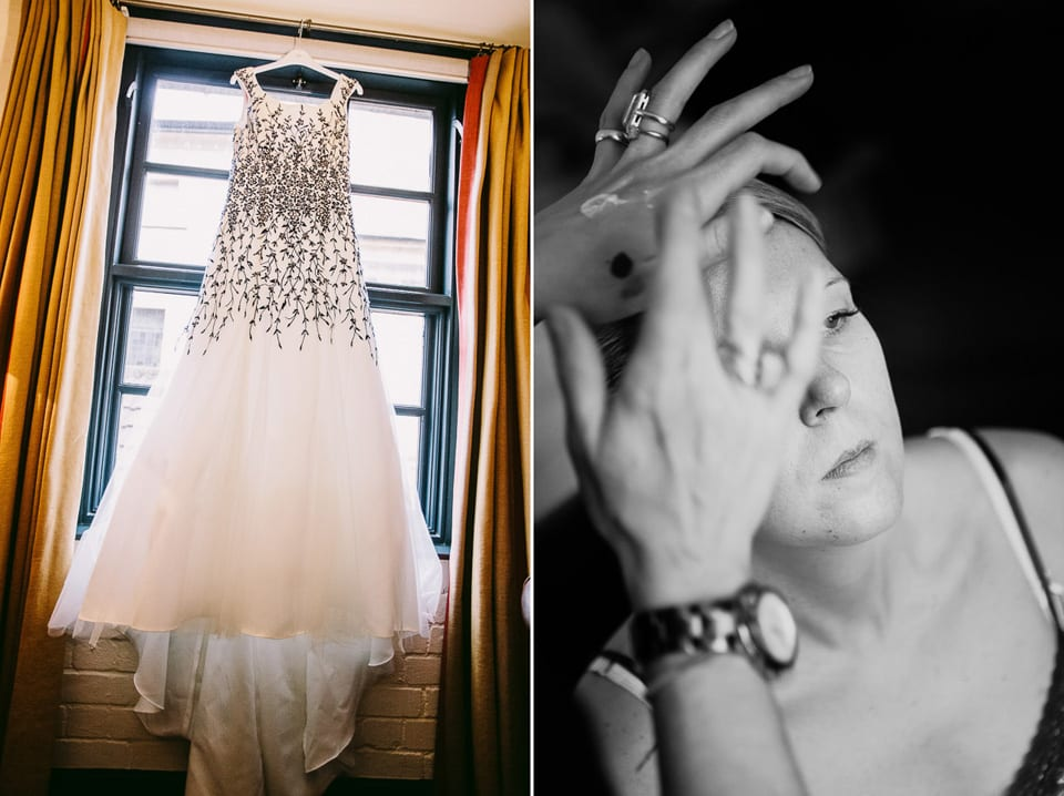 Bridal preparations at hotel du vin
