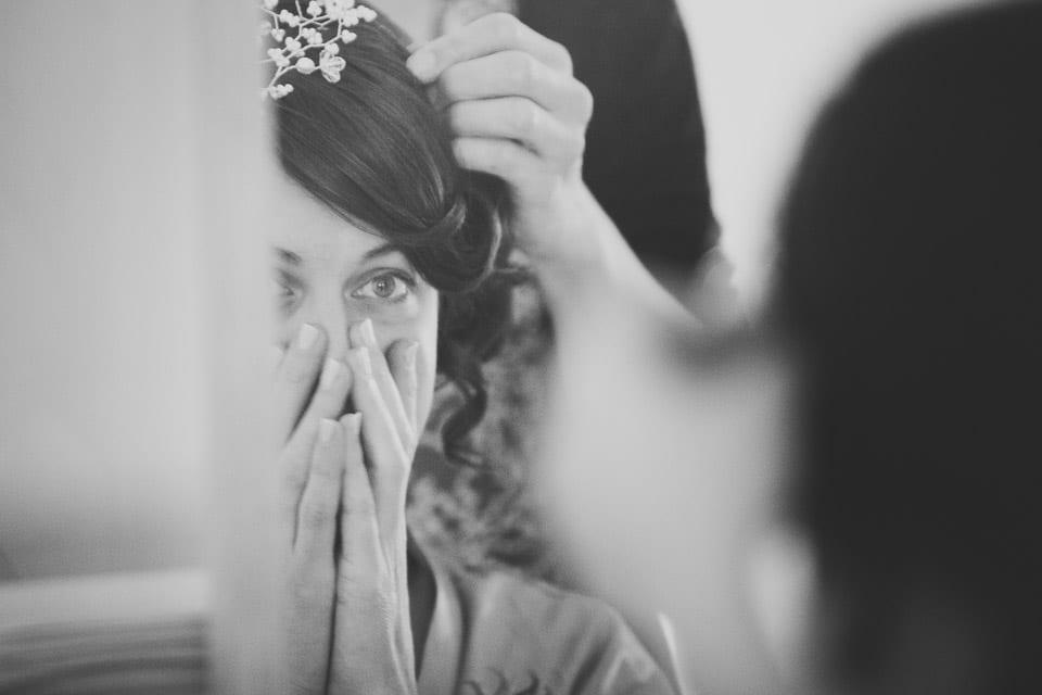 The bride gets emotional