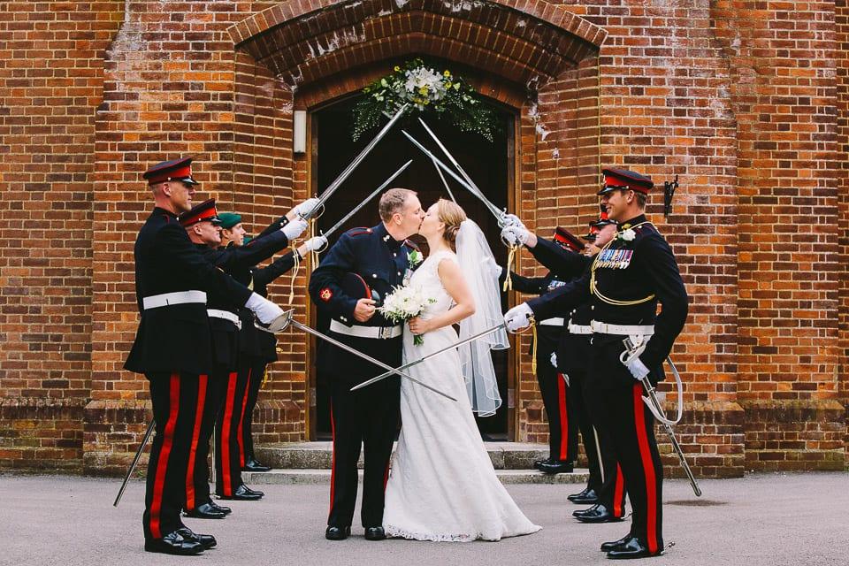 Military wedding honour guard