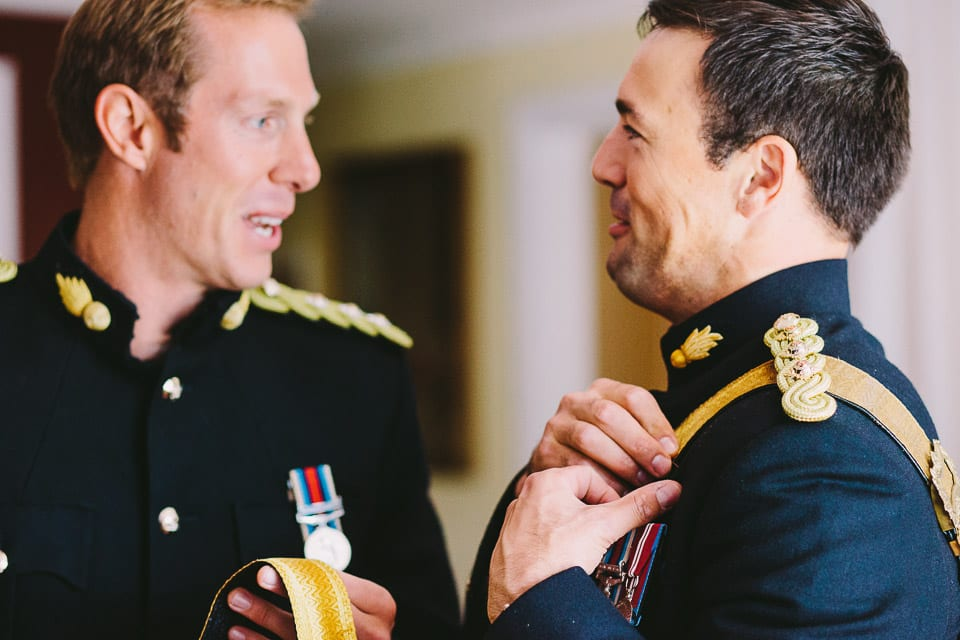 soldiers at Military wedding