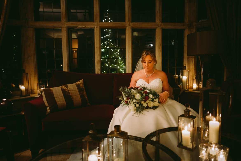 bride seated