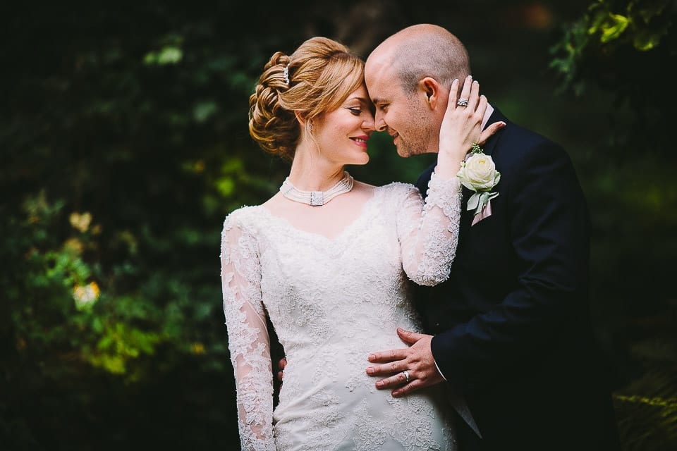 bride and groom outside bath spa hotel