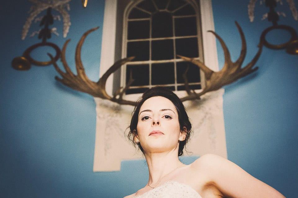 Bride in the portrait gellery