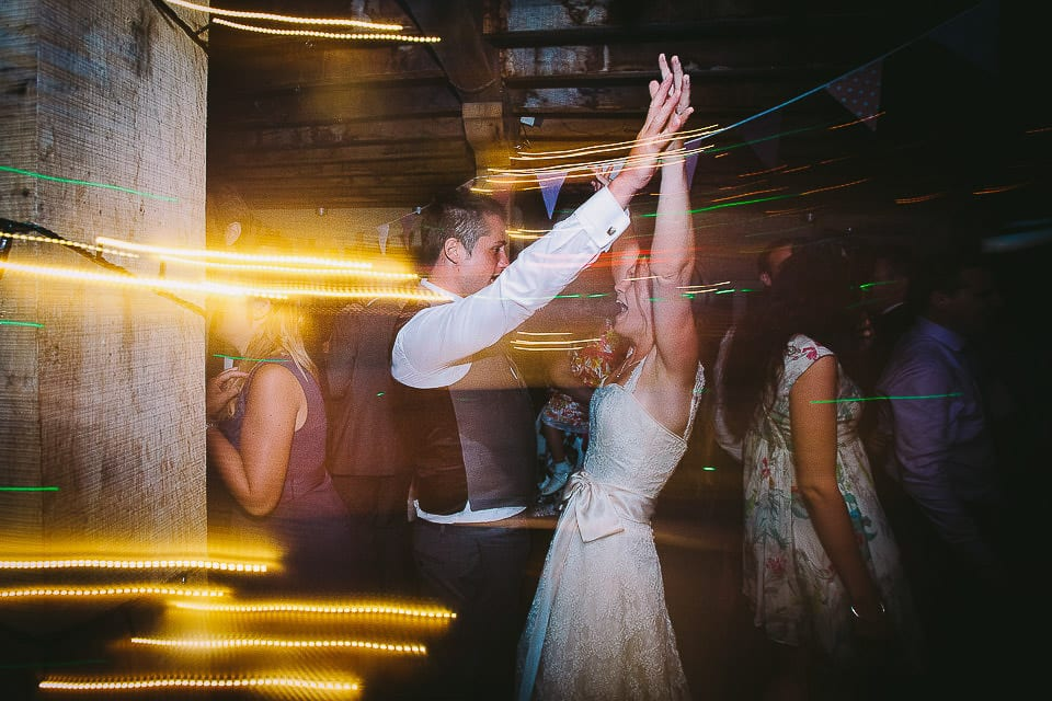 Bride and groom dancing at Abbey House Gardens
