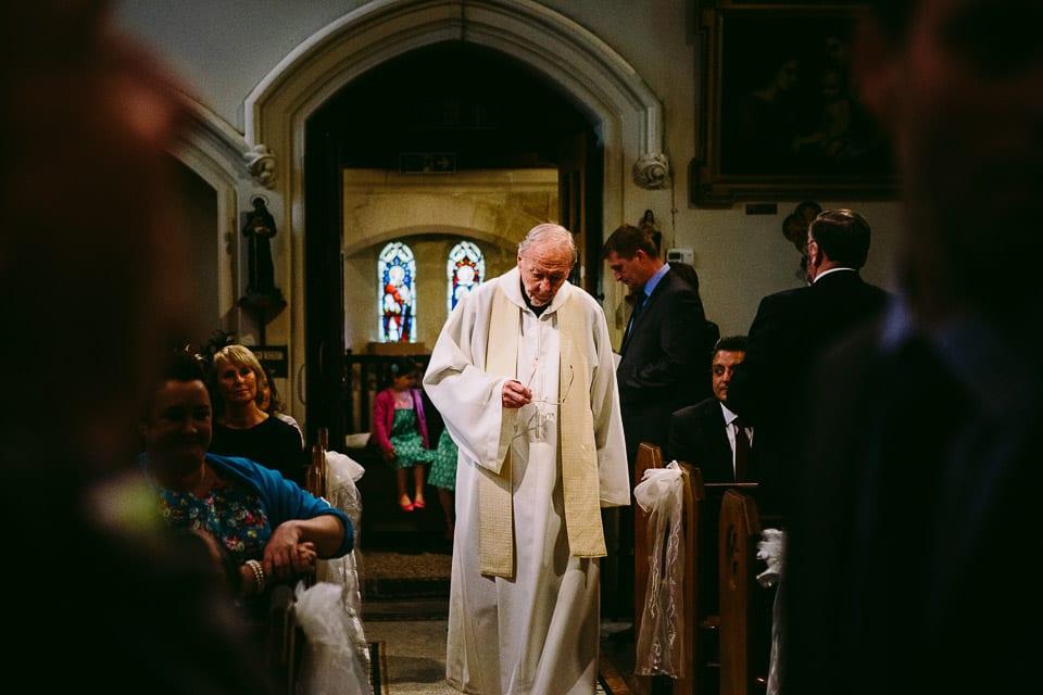 Vicar in the church
