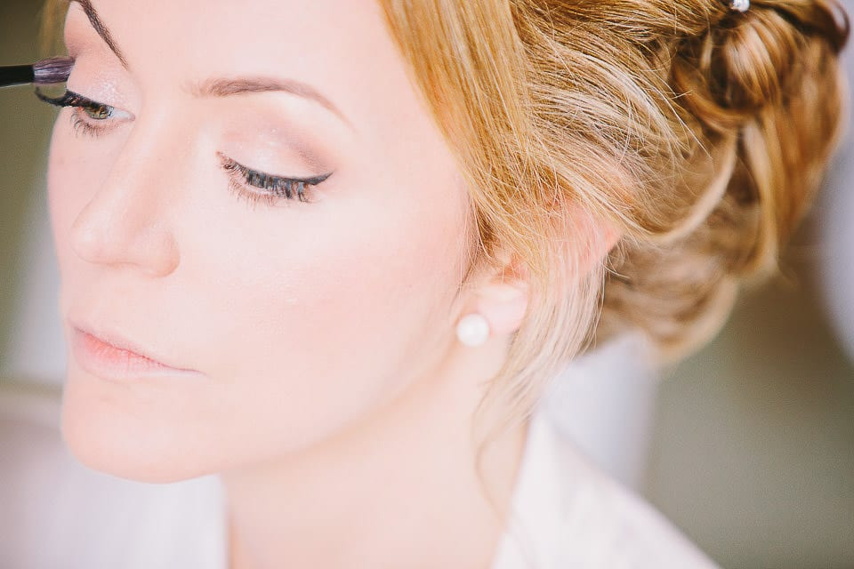Close up portrait of the bride at Bath Spa Hotel