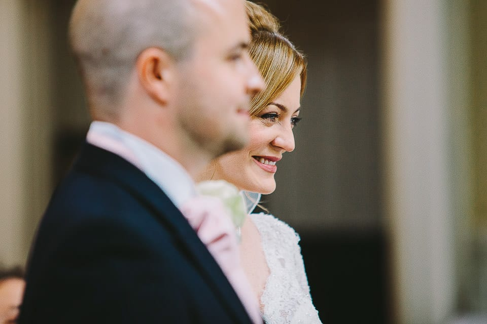 Close up image of bride and groom at Bath Spa Hotel