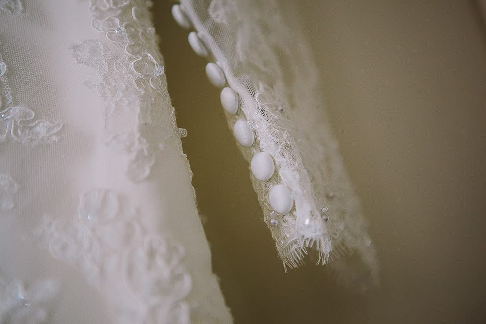 Close up image of the dress detail at Bath Spa Hotel
