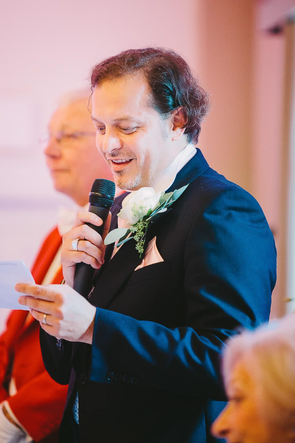 Brother of the bride giving a speech at Bath Spa Hotel